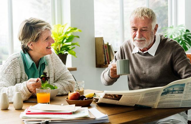 Happy couple having brunch - Final Expense Explained