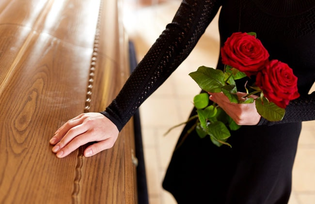 Women grieving at a funeral - Final Expense Explained